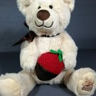 Edible Arrangements Berry Loved Bear Plush Toy Teddy Chocolate Strawberry & Bow