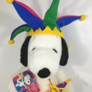 Macy's Snoopy Plush Doll 2000 Millennium Jester New Years Eve Peanuts w/ Tag