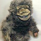 "Dakin Plush Black Gorilla Foundation Puppet Stuffed Animal Vintage 1986 Toy 10"""