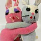 Embraceables Bunny Rabbits Knickerbocker Toy Mr Mrs Hugging Love Stuffed Plush