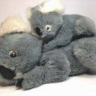 "Westcliff Koala Bears Plush Mother & Baby Cub LARGE 16"" Stuffed Grey Animal"