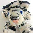 "White Siberian Tiger Plush Vintage 1985 Barnum & Bailey Cat RARE BLUE EYES 12"""
