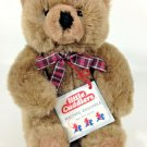Douglas Little Cuddlers Teddy Bear Plush Brown Plaid Bow Tie Soft Stuffed Animal