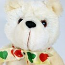 "Vintage 1988 Avon Teddy Bear White Cream Stuffed Plush Animal Doll Toy 12"""