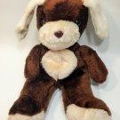 "Taiwan Puppy Dog Plush Brown White Long Ear Stuffed Animal Pup 10"""