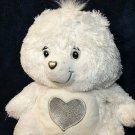 Care Bears Swarovski White Teddy 25th Anniversary Special Edition Crystal Eyes