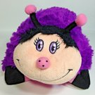 """Pillow Pets Dreamy Ladybug Purple Pink Plush Limited Edition 2011 Pee Wees 11"""""""