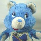 "Vintage ETONE Teddy Bear Plush RARE White Blue Heart 14"" Lovey Toy Soft Doll"