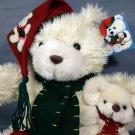 CALLIE & FRIENDS Plush Ivory TEDDY BEAR & MOUSE 1998 Holiday Stuffed Animal TAG
