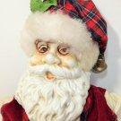 "Santa Claus Doll Ceramic Face 1994 Four Star International 14"" Cloth Body"