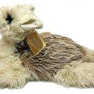 RARE Vintage Dakin Llama Luella Alpaca Gray long Pile Stuffed Animal Plush TAG
