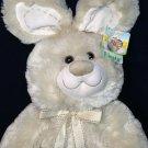 "Fiesta Bunny Rabbit Plush Easter Furry Stuffed Animal GIFT TAG 15"" Cream Color"