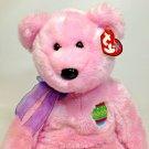 Ty Buddy Eggs Pink Teddy Bear Plush Beanie Buddies Stuffed Animal Bean Bag Toy