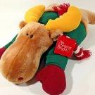 "Kohls Plush Brown Moose Soft Stuffed Animal Reindeer Holiday Pillow 16"""