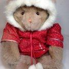 "Mango Magnetic Paws Peek a Boo Teddy Bear Plush Brown Stuffed Animal Hoodie 17"""