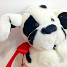 """Commonwealth Hug-a-Plush Dalmatian Puppy Firehouse Mascot Dog Red Bow 9"""" Toy"""