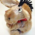 Vintage Eeyore Swedlin Plush Disney Brown Stuffed Winnie The Pooh Red Ribbon