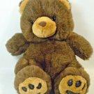 """Teddy Bear Plush Semo Cuddlie Brown Stuffed 10.5"""" Sitting"""