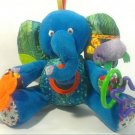 Eric Carle Plush Blue Elephant Busy Baby Crib Toy Rattle Squeaky Purple Mouse