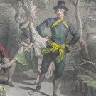Nicolas Lancret L'Hyver RARE Vintage Color Art Print Framed de Larmessin 21x19