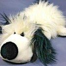 "GOOGLES Plush Dog English Sheepdog Puppy Smile Collection Black White Fluffy 14"""
