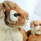 "Fiesta Mother Tiger & Baby Cub Plush Cats Cuddle Stuffed Animal Realistic 18"""