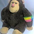 "Nanco Gorilla LARGE Plush Stuffed Animal Ape Fat Round Monkey 13"" made in Korea"