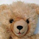 "Vintage Teddy Bear Plush Furry Shaggy Long Pile Tan Beige Stuffed Animal 16"""