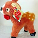 "Fiesta Deer Plush Fawn Brown Spotted 1996 Christmas 10"" Stuffed Animal xs4656"
