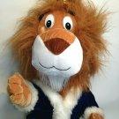 "Rare Plush LION King Six Flags Great Adventure Stuffed Animal Cat w Crown 21"""