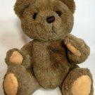 "Russ Buckingham Teddy Bear Plush Brown Jointed Stuffed Animal 14"" Korea No. 582"