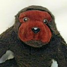 Dakin Vintage Monkey Plush Ape 1976 Stuffed Woolly Chocolate Brown Gorilla 12""