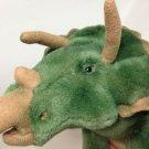 "Vintage Gund Triceratops Dinosaur RARE Green Stuffed Plush HTF 13"""