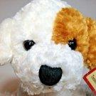 "Tender Luv Puppy Dog Plush White Brown 7"" Stuffed Animal TAG RBI Ron Banafato"