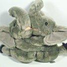 """Best Friends Fur-Ever Elephants by Fiesta Grey Gray 8"""" Stuffed Plush Hugging"""