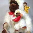 "White Ape Gorilla Monkey Goffa Plush Mother & Baby Large Furry Animal 15"" Tag"