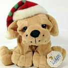 "WishPets Plush Puppy JINGLE Big Eyes & Paws Brown Hound Dog 2006 Bean Bag 9"""