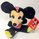 """Disney Vintage Minnie Mouse Non Allergenic Stuffed Plush Bean Bag KOREA 7"""" TAGS"""