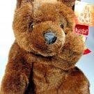 "Fiesta Teddy Bear Plush Brown 11"" Sitting Paw Bear Grizzly Stuffed Animal w/ Bow"