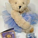 Vermont Teddy Bear Good Wishes Plush Jointed Stuffed Animal Fairy Angel Wings