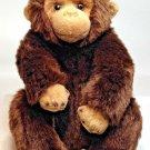 "Yomiko Classics Chimpanzee Monkey Russ Plush Brown Tan Stuffed Animal 10"" Chimp"