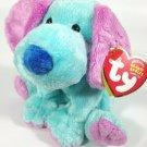 Ty KOOKIE PLush Beanie Circus Puppy Dog Bean Bag Stuffed Animal Retired 2003