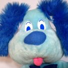 """Goffa Vintage Plush Blue Dog Puppy Pooch 16"""" inch Stuffed Animal Hound Bow Tie"""