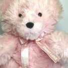 "Oshko Pink Teddy Bear Soft Furry Stuffed Animal w Sweet love Ribbon Bow 12"""