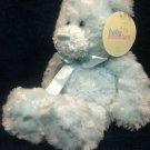 "Baby Adventure Blue Teddy Bear Ribbon Bow Soft Plush Stuffed Animal NWT 12"""
