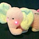 """Carters Just One Year Pink Baby Elephant Plush Cheek Light Up Musical Lullaby 6"""""""