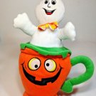 "Halloween Ghost in Pumpkin Teacup Plush National Entertainment Network 14"""