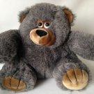 """Fiesta America Wego Teddy Bear Grey Smoke Color 10"""" Stuffed Animal Toy #1123G"""