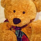 "Dan Dee Teddy Bear Brown Plush HUGE Collectors Choice JUMBO 30"" Bowtie Scarf"