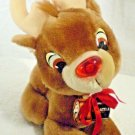 """Rudolph Red Nose Reindeer Duracell Applause 6"""" Stuffed Animal Plush Toy"""